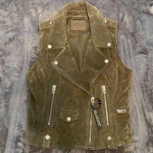 Blank NYC Suede Leather Moto Vest